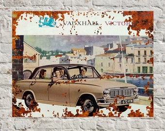 Vauxhall Victor 1960 advertising vintage retro signs repro wall art