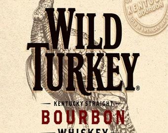 WILD TURKEY Aluminum Street Sign hunter hunting call Bourbon lover Indoor//Outdo