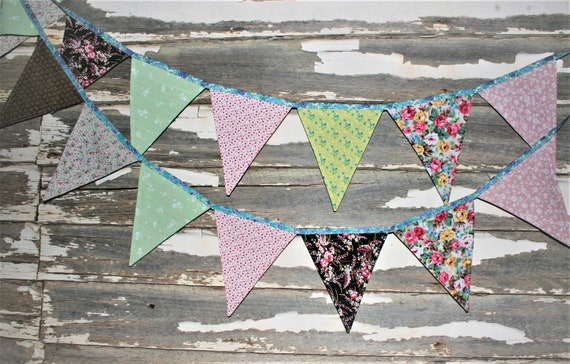 Sweet 16 Pink Damask Pattern Bunting Banner 15 flags by Party Decor