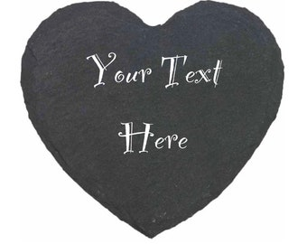 Personalised Natural Slate Placemats, Any Name, Any Date, Slate Tableware, Valentines, Anniversary