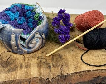 Handthrown Yarn bowls, Gorgeous Glazes, Wool Bowl, Wool, Knitting, Crocheting Bowl, knitter
