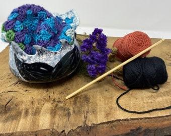 Handthrown Yarn bowls, Whale Tail, Fun, Wool Bowl, Wool, Knitting, Crocheting Bowl, knitter