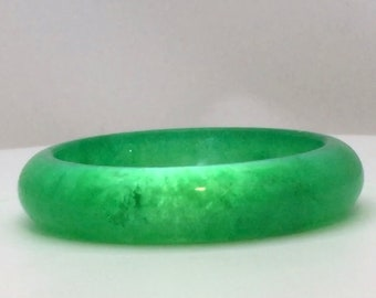 purple 100/% Natural Royal nephrite jade jadeite bracelet 60mm