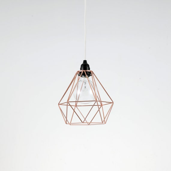 Rose Gold Diamond Wire Cage Pendant