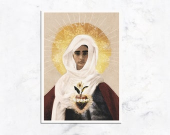 Immaculate Heart of Mary Prayer Card - Available in Spanish