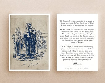 Vintage Style Saint Joseph Holy Card