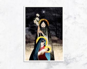 The Nativity Prayer Card