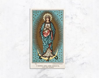 Act of Consecration to Mary Prayer Card