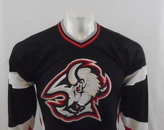 Buffalo Sabres Vintage Boys Black Red V Neck Hockey NHL Logo Jersey Size L  XL 01015ce02