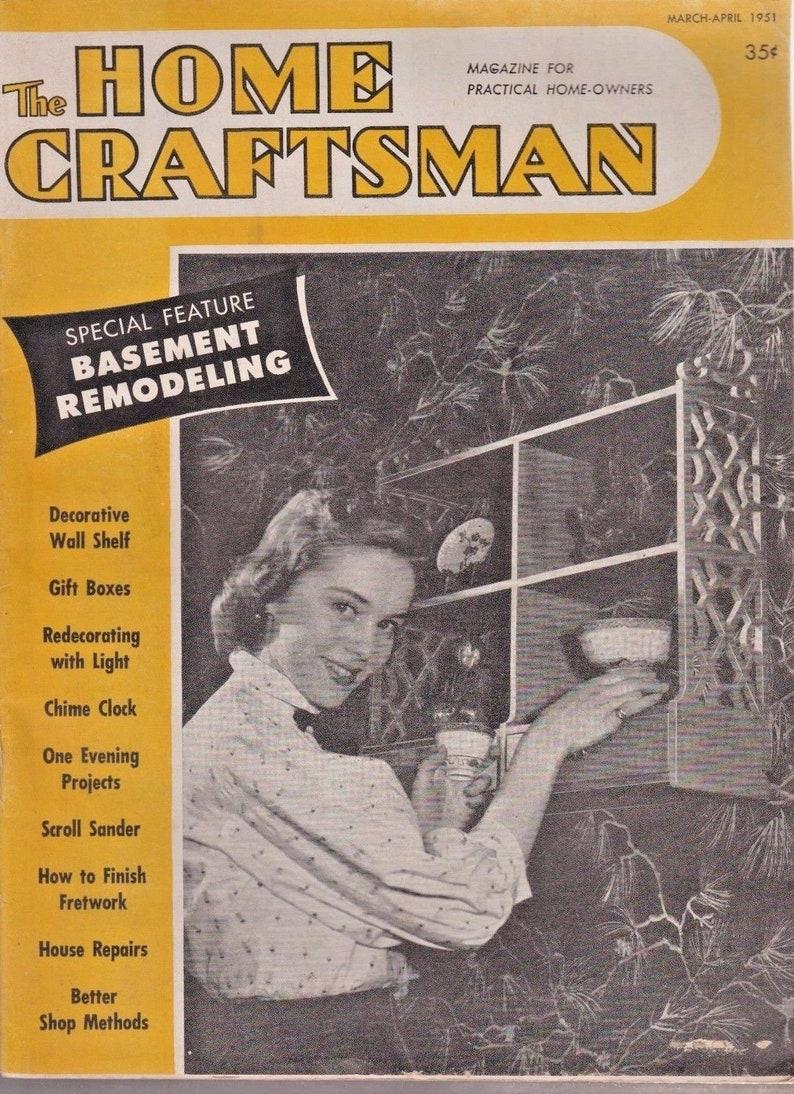 Vintage Home Craftsman Magazine March-April 1951