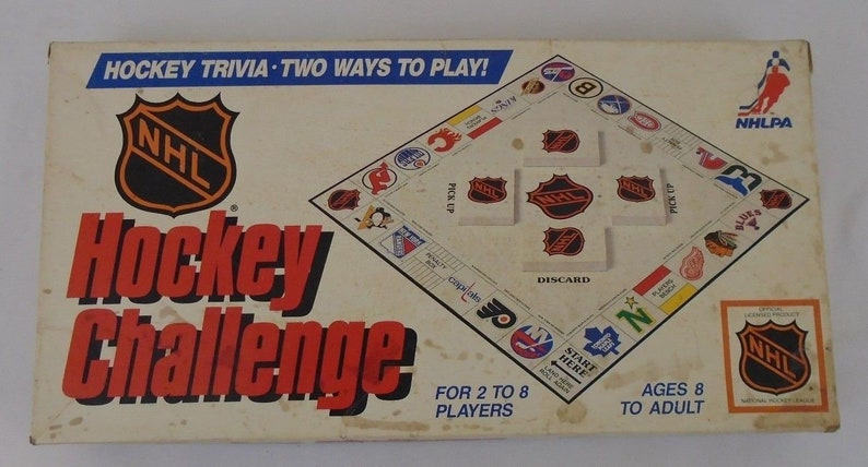1986 Nhl Hockey Challenge Vintage Board Game Nhlpa