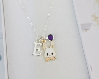 Easter basket stuffer Religious necklace Easter Necklace for daughter Happy Easter gift for girl Present from Mother 925 Sterling silver
