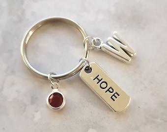 Love Hope Faith Keychain SMALL Heart Keychain Anchor Keychain Cross Keychain Initial Keyring Inspirational Gift Hope Keychain Love Keychain