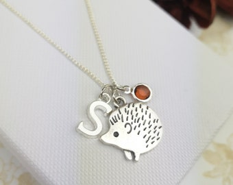 Sterling Silver Hedgehog Necklace Cute Birthday Gift for her Womens Girls Dainty Necklace Hoglets hedgehog Christmas Birthday Gifts