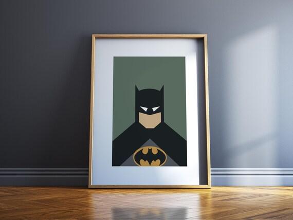 Batman Wall Art Superhero Print Super Hero Posters Wall Etsy