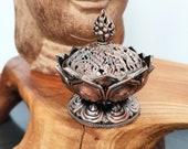 Incense Bowl Smoked Bowl Lotus Flower Copper