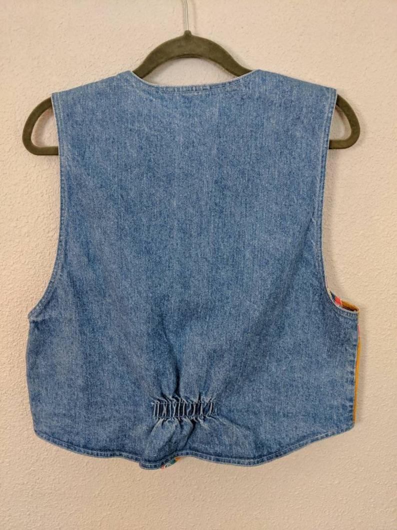 1990s Aztec Inspired Vest Large Colorful Vintage Vest