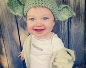 Crochet Yoda Inspired Hat