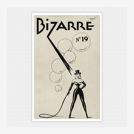VINTAGE 1940/'S BIZARRE FETISH  MAGAZINE VOLUME 4 COVER ART A3 POSTER RE PRINT