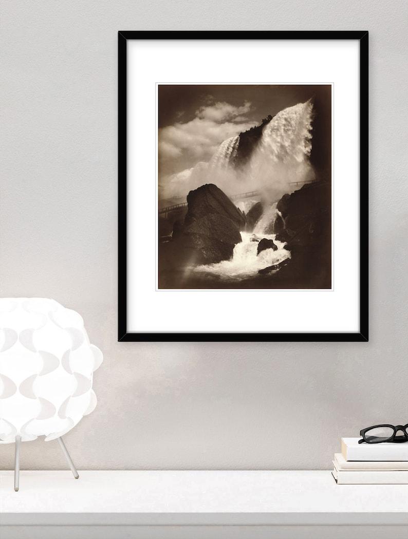Cave of The Wind Niagara Falls George Barker 1888 Fine Art Landscape Print