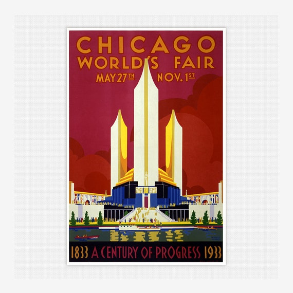 1933 Chicago World/'s Fair Poster  11x17 inches Wall Art