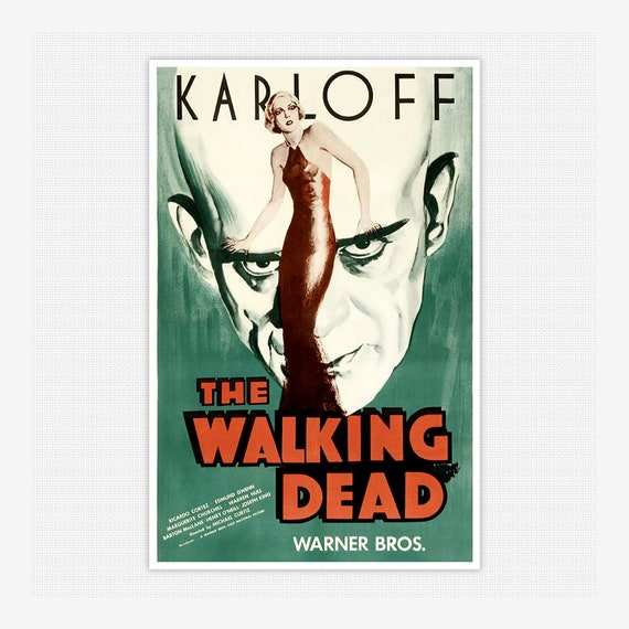 1936 Boris Karloff Horror movie poster print 3 The Walking Dead