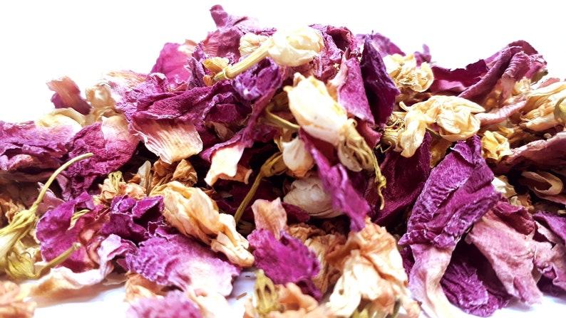 Wedding confetti Biodegradable confetti Real petal confetti HIBIMI 1 liter Natural confetti