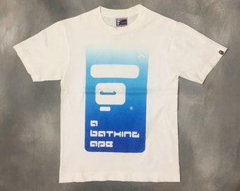 255980a35c7a Bathing Ape Tshirt White Bape Tshirt Vintage OG Bape A Bathing Ape Tshirt  Japanese Streetwear Bathing Ape Tshirt