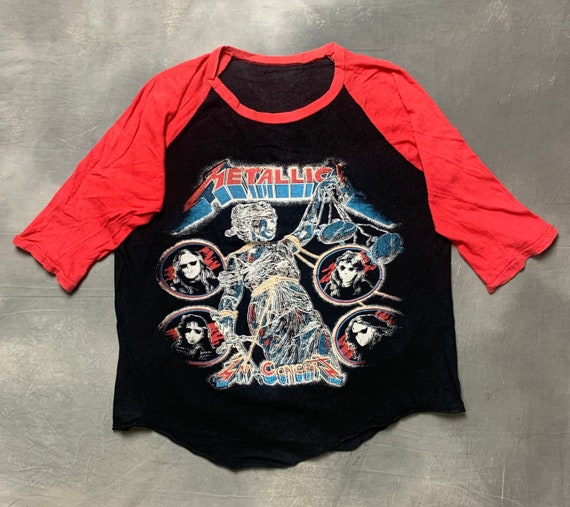 Vtg 90s Metallica Bootleg Raglan T Shirt/Vtg 90s B
