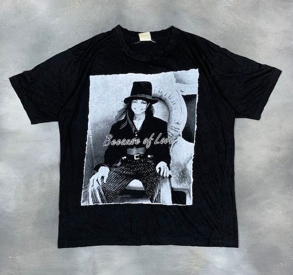 "90s Janet Jackson ""Because of Love"" T Shirt/90s Ja"