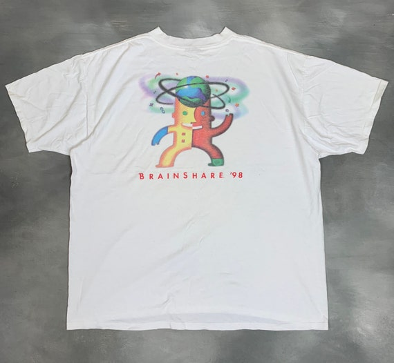 90s Novell Brainshare 98 T Shirt/Vtg 90s Novell So