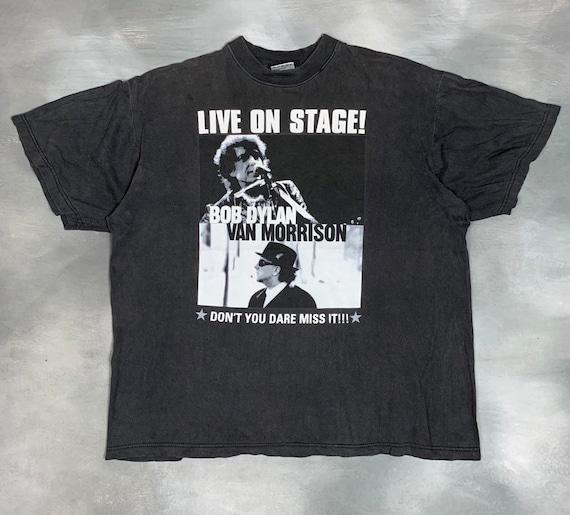 1998 Bob Dylan & Van Morrisson T Shirt/Vtg Bob Dyl
