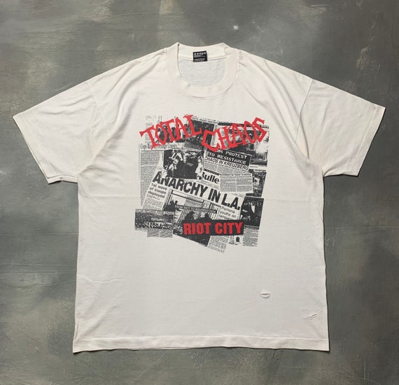 "Vtg 90s Total Chaos ""Anarchy in L.A"" American Hard"