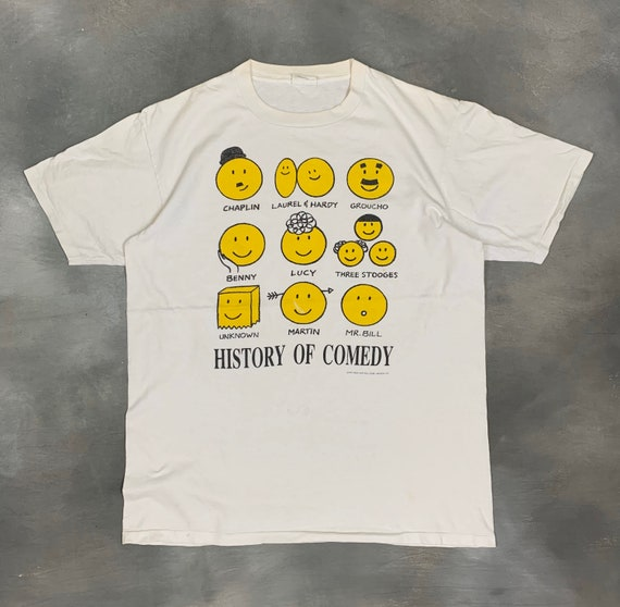 90s Rock & Roll Corp. History of Comedy T Shirt/Vt