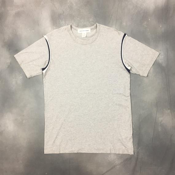 Comme Des Garcons T Shirt Grey Patch Plain Short S