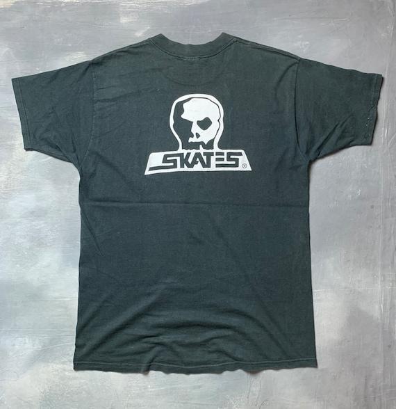 Vtg 90s Skull Skates T-Shirt/90s Skull Skates Skat