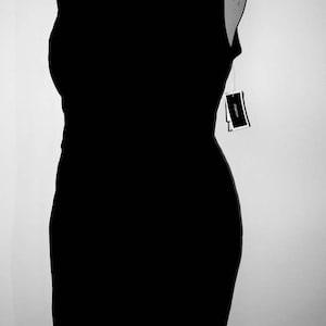 xl knee length simple vintage jumper 90s minimalist little black dress