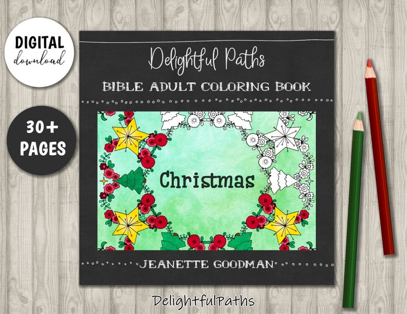 Christmas Coloring Book for Adults  Printable Coloring Book  image 0