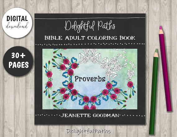 - Proverbs Coloring Book For Adults Printable Coloring Book Etsy