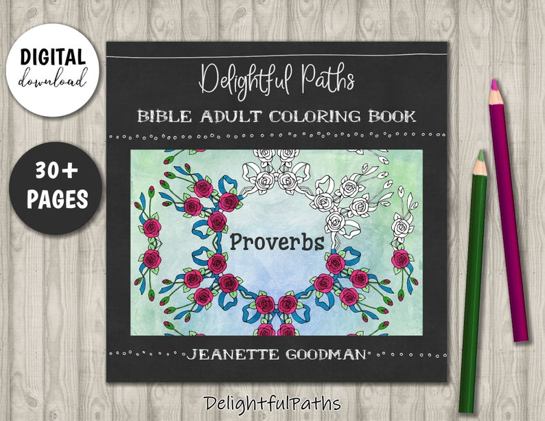 Proverbs Coloring Book for Adults  Printable Coloring Book  image 0