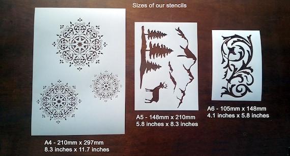 Patrón de estrellas Plantilla Vintage plantilla de elaboración de Tarjetas Pintura Decoración del Hogar Artesanía TE85