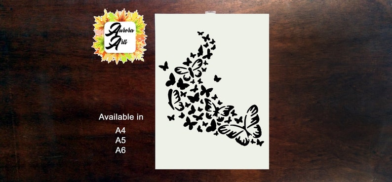 Reusable Mylar Butterfly Stencil Airbrush Crafting Canvas decor Wall art