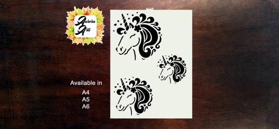 Craft Stencil Airbrush Unicorn stencil,Stencil Card making