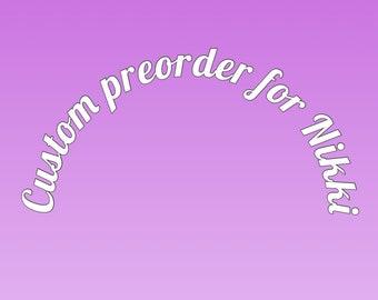 Custom pre-order  for Nikki Garden Plant Markers, Ceramic