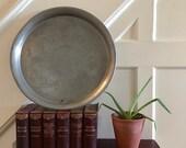 Decorative pewter tray