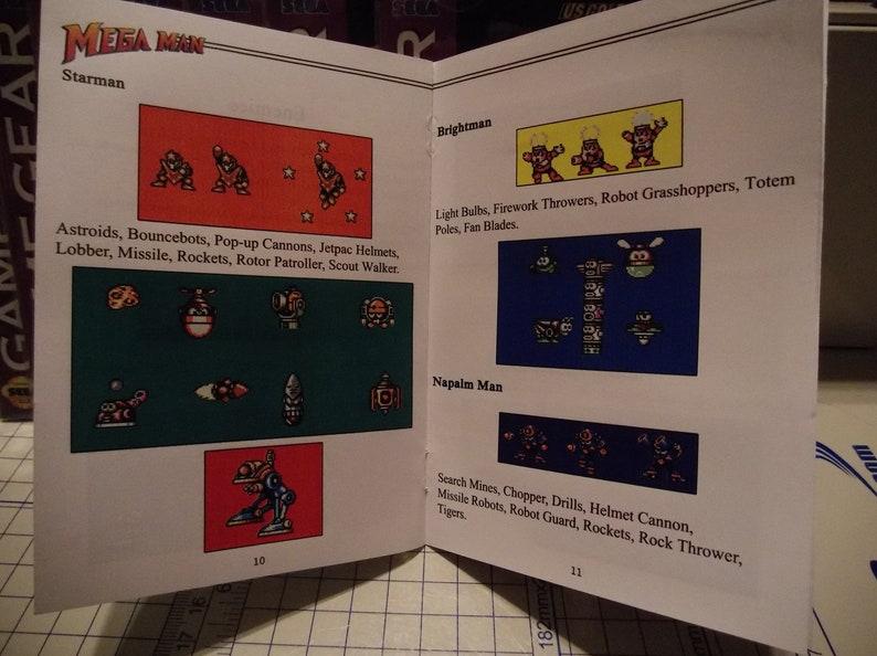 Mega Man Colorized Sega Gamegear Booklet