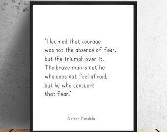 Nelson Mandela Quote Etsy