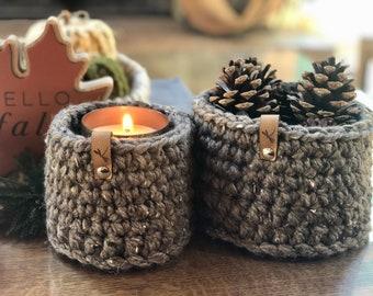 Crochet Basket Set, Farmhouse baskets, Rustic Baskets, Nesting Baskets, Fall Decor, Fall baskets, Catch All baskets, Nesting baskets