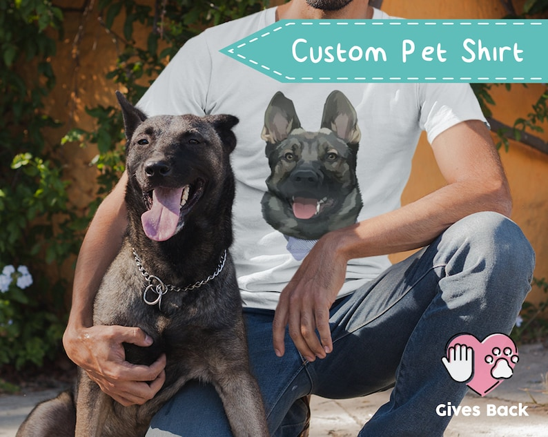 fd96e5245 Custom Dog Dad T-shirt Gift Dog Shirt for Men T-shirt for | Etsy
