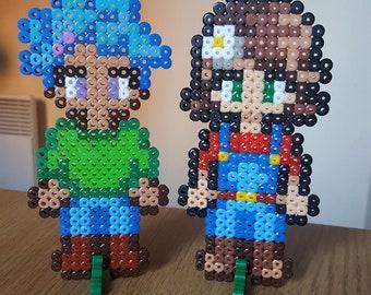 CUSTOM Stardew Valley farmer pixel art | Gaming 8bit magnet gift idea